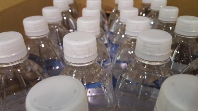 bottled water, small packaged water, single service water, 16.9, flat cap, sport cap, 20 oz, 8 oz