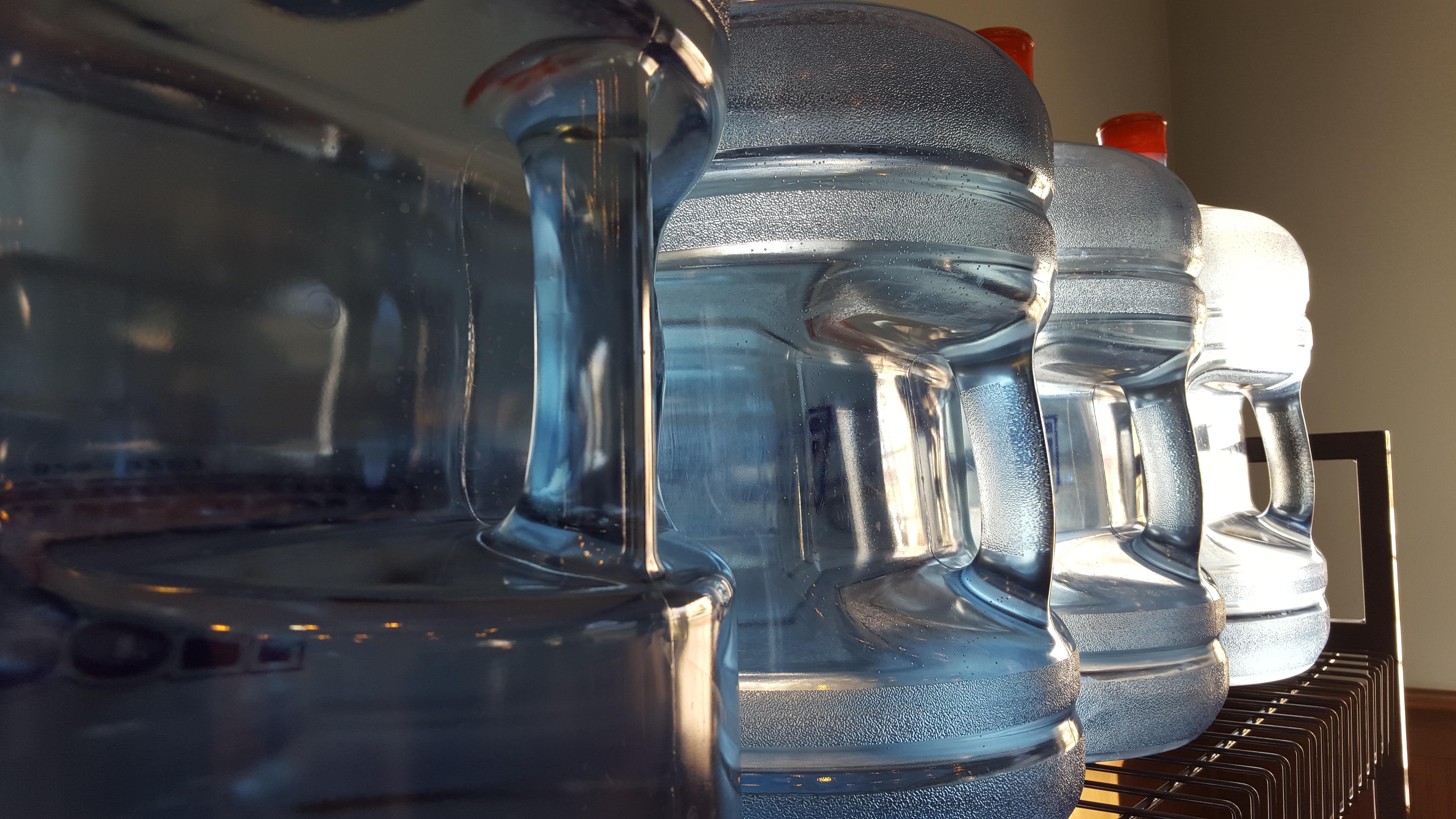 H2Oregon 5 gallon bottled water on Racks